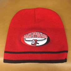 Mack Studs Red Knit Winter Hat