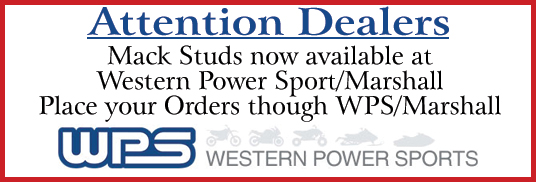 Mack Studs now available at Western Power Sport/Marshall