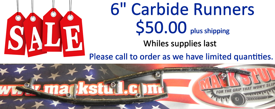 "1/2"" Round Bar 6"" Carbide Runners $50 while supplies last"